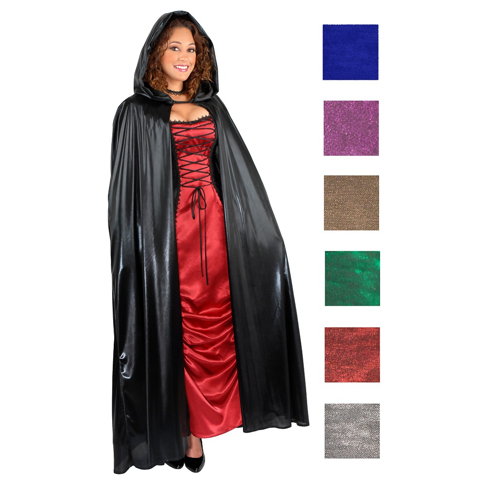 Unisex Hooded Cape Adult Costume Accessory Black