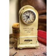 Manual Woodworkers & Weavers 104486 Clock - Under His Wings - Tabletop - Vintage Cream