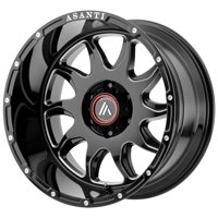 "Asanti Off Road AB810 Ballistic 20x9 8x170 +18mm Black/Milled Wheel Rim 20"" Inch"