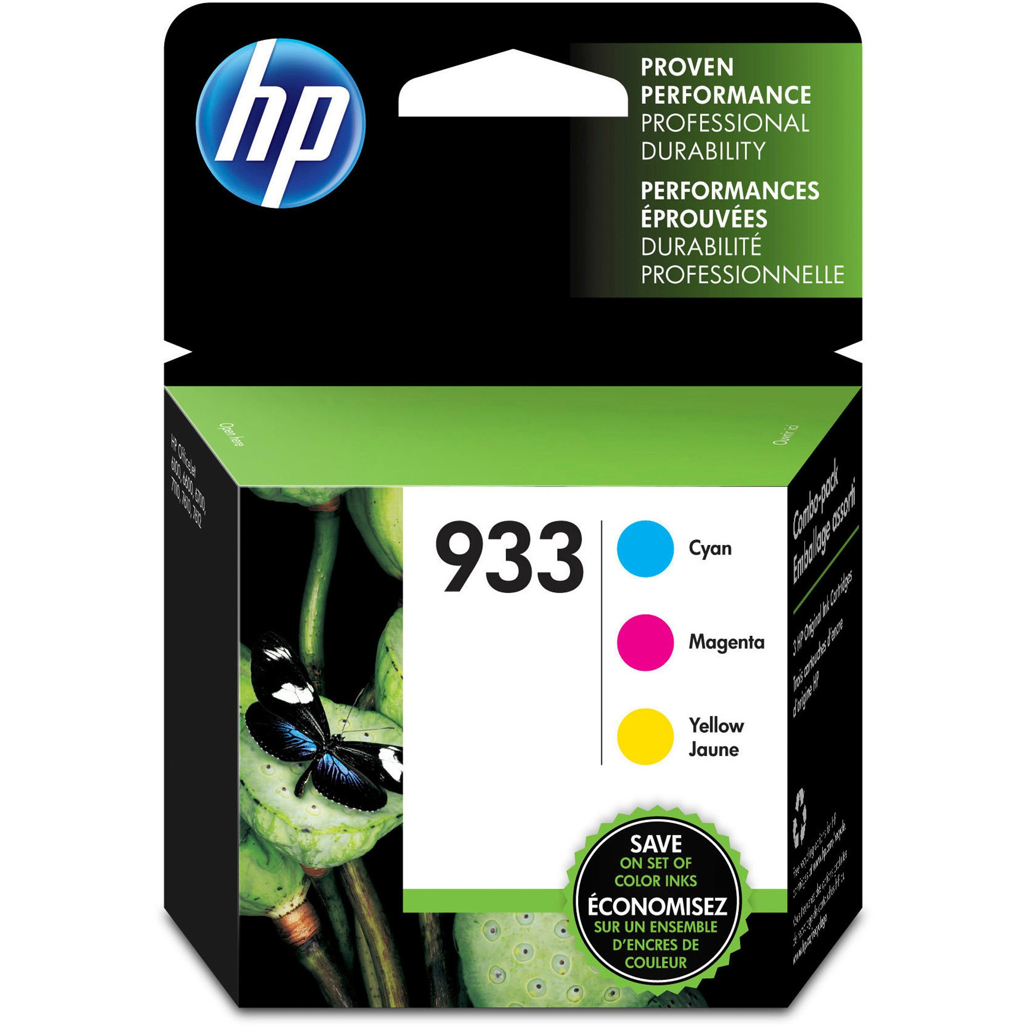HP 933 Original Ink Cartridge, 3 / Pack (Quantity)