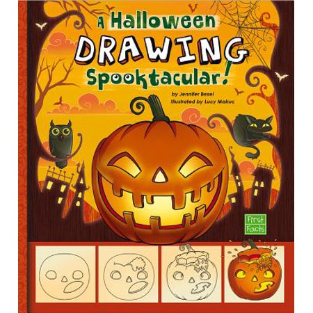 A Drawing a Halloween Spooktacular : A Step-By-Step Sketchpad - Halloween Drawings Pinterest