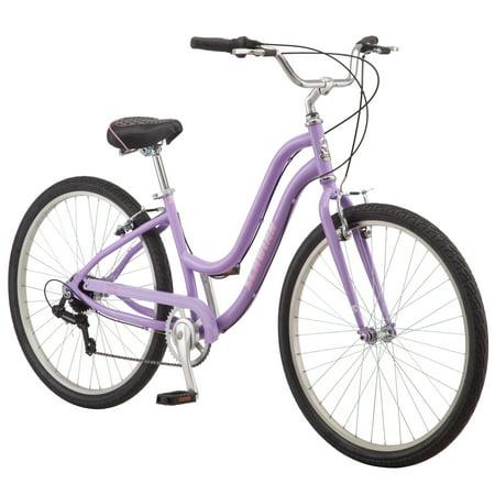 Schwinn Brookline cruiser bike, 27.5 inch wheel, 7 speeds, womens, purple