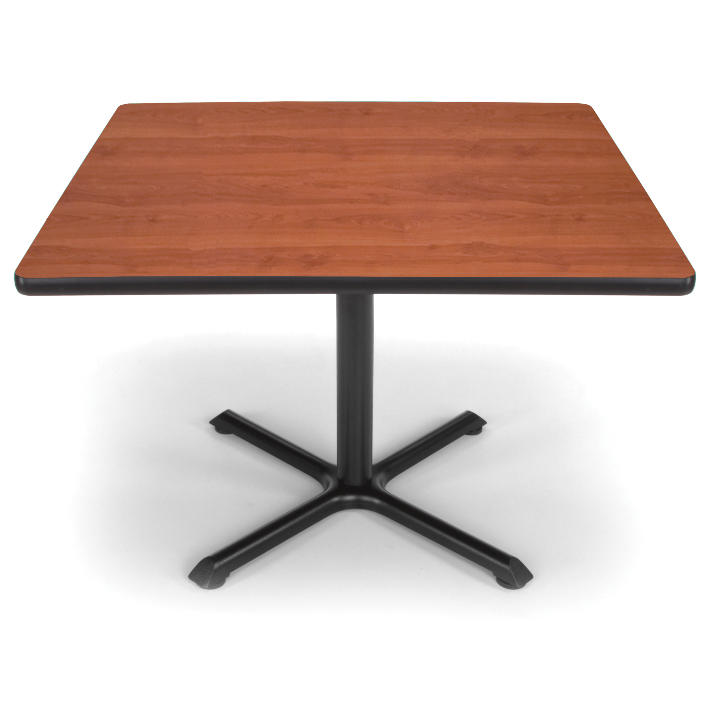 """OFM Model XT42SQ 42"""" Multi-Purpose Square Table with X-Style Pedestal Base, Cherry"""