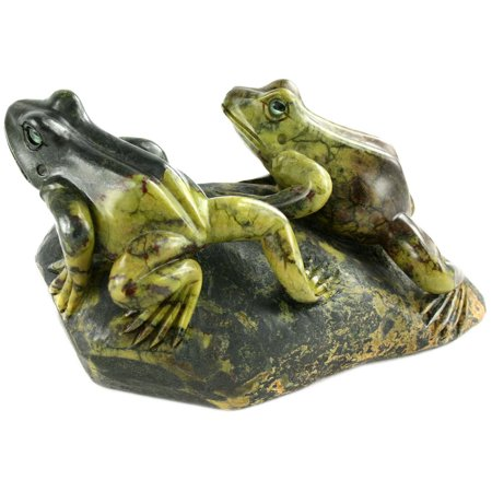 Hand Carved Serpentine Frogs Stone Carving - Father's Day Gift - Serpentine Carving