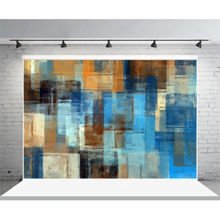 GreenDecor Polyster 7x5ft Photography Background Abstract Painting Colored Grunge Design Wall floor Theme Backdrops Portraits Shooting Video Studio Props Adults Children Lovers Girls - Backdrop Design