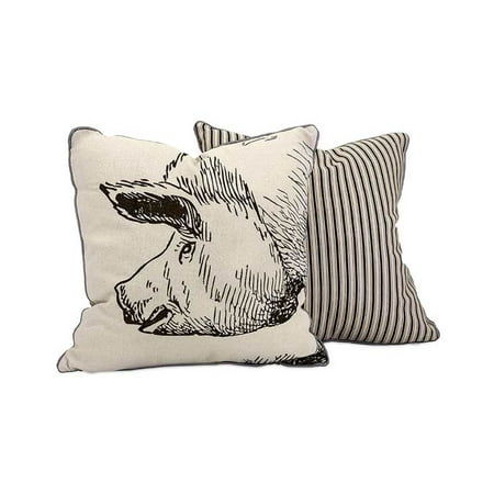 Comfortable Wilber Pig Embroidered Pillow