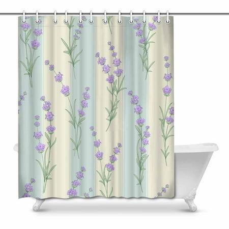 Pop Lavender Flowers Bathroom Decor