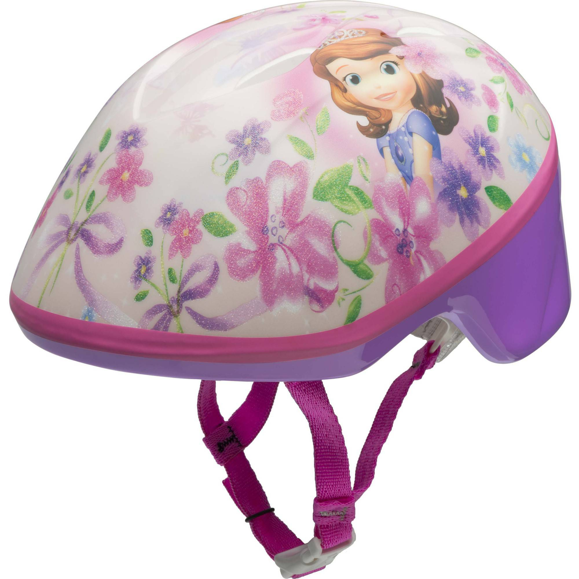 Bell Sports Sofia the First Toddler Bike Helmet, Pink and White