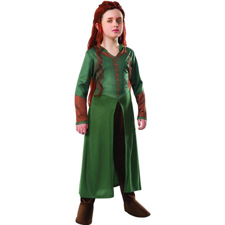 Child's Girl's The Hobbit Smaug Tauriel Elf Warrior Princess Costume