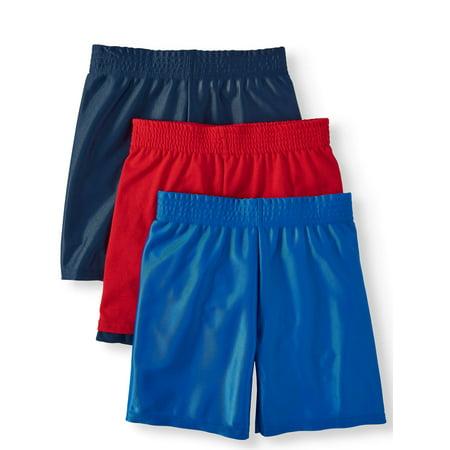 Garanimals Dazzle & Jersey Hangdown Athletic Shorts, 3pc Multi-Pack (Toddler Boys) (Boys Shorts Size 5)