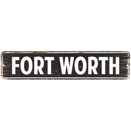 FORT WORTH Street Plate Sign Bar Store Shop Cafe Home Kitchen Chic 4180043 ()