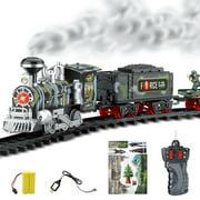 Electric Dynamic Steam Rc Track Train Set Simulation model Toy Set