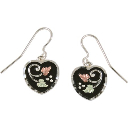 Jewelry Coleman Co. 10kt and 12kt and Sterling Silver Antiqued Heart Drop Earrings