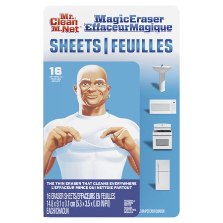Mr. Clean Magic Eraser Cleaning Sheets, the power of a Magic Eraser in a thin, flexible, disposable sheet, 16 (The Best Cleaning Company)