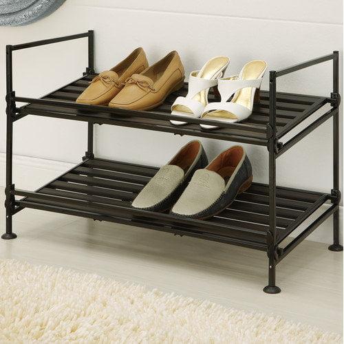 Organize It All 2-Tier Shoe Rack