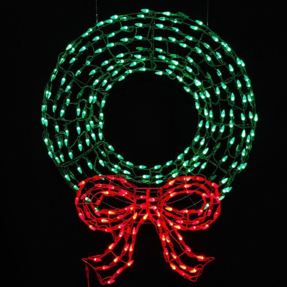 Celebrations 4407096UAC Christmas Decoration LED Wreath/Bow, Metal, 280 lights
