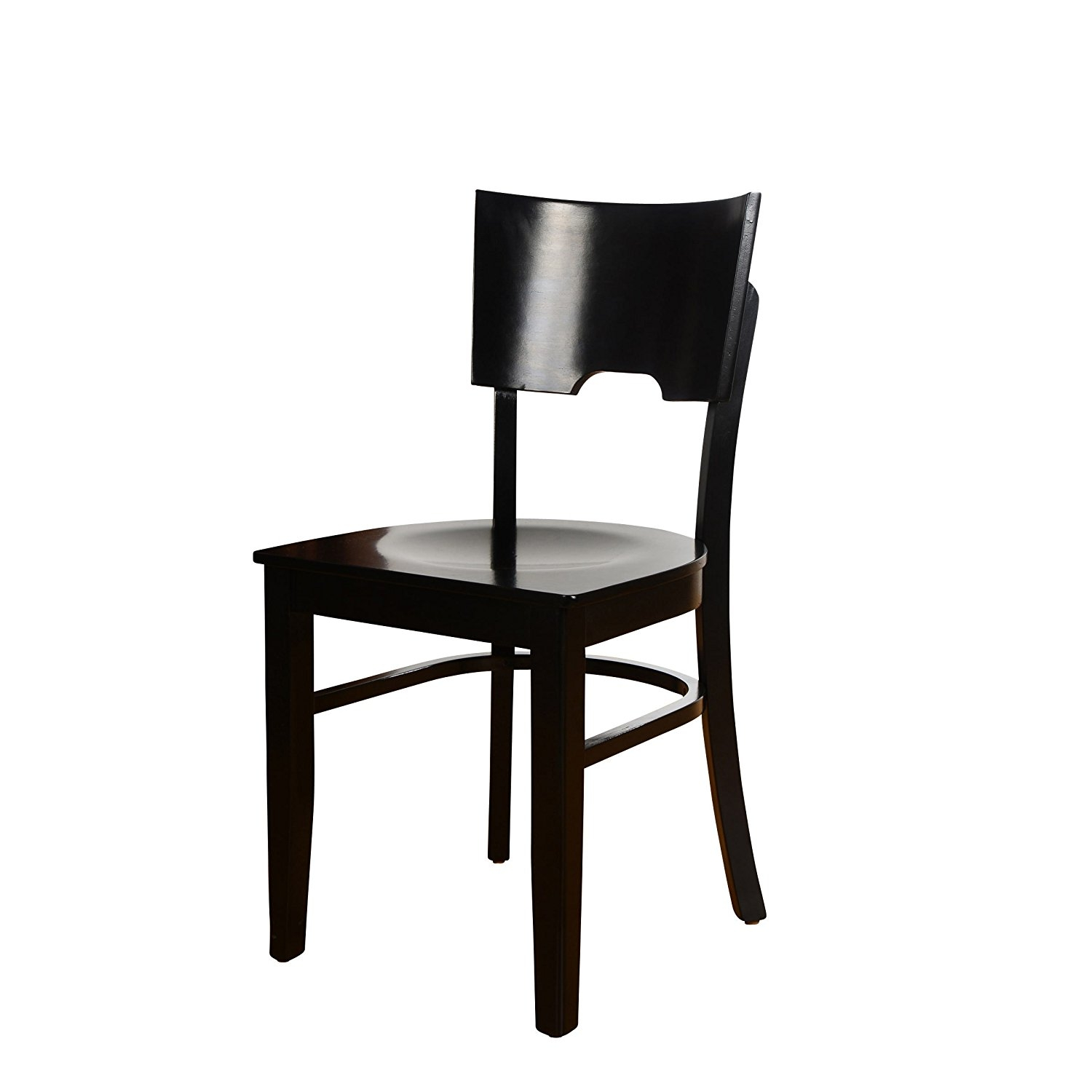Beechwood Mountain BSD-11SW-W Solid Beech Wood Side Chairs in Walnut with Wood Seat for Kitchen & Dining, Set of 2 by Beechwood Mountain LLC