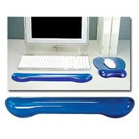 Crystal Gel Keyboard Wrist Rest - Blue