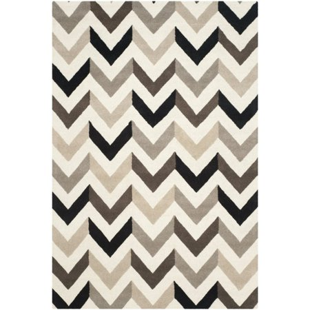 Safavieh Cambridge 2' X 3' Hand Tufted Wool Rug in Ivory and Black - image 1 of 1