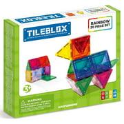 Tileblox Rainbow Multicolor Magnetic Tiles 20 Pieces