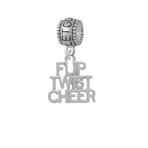 Flip Twist Cheer - Let Go Let God Charm Bead