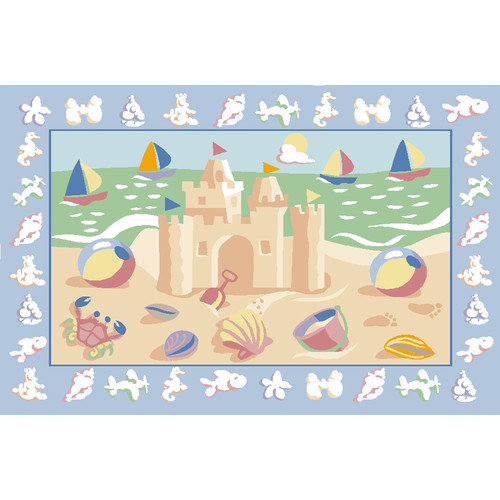 Fun Rugs Olive Kids Sand Castle Area Rug