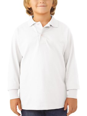Jerzees School Uniform SpotShield Long Sleeve Polo (Little Boys & Big Boys)