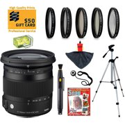Sigma 17-70mm F2.8-4 DC HSM Contemporary Lens with UV, CPL, FLD, ND4,+10 Macro Filters and Bundle for Pentax K-S1, K-500, K-50, K-30, K5 IIs, K-7, K-5, K-3, K-2, K-X, K20D, K100D, K110D and K10D