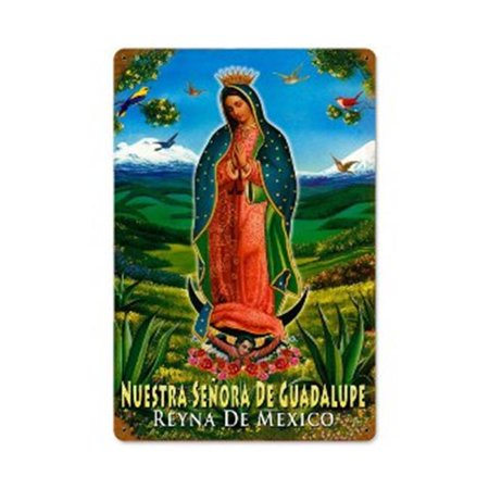 Past Time Signs V687 Guadalupe Foreign Language Vintage Metal Sign - image 1 of 1