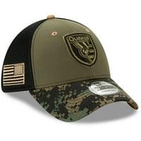 San Jose Earthquakes New Era Military Appreciation 39THIRTY Flex Hat - Green/Black