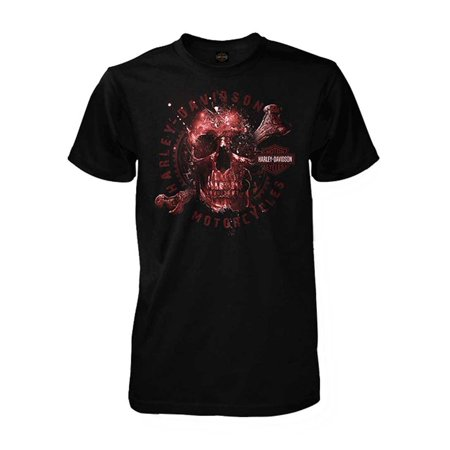 Harley-Davidson Men's Apparition Skeleton Skull Short Sleeve T-Shirt, Black, Harley Davidson - Harley Davidson Happy Birthday