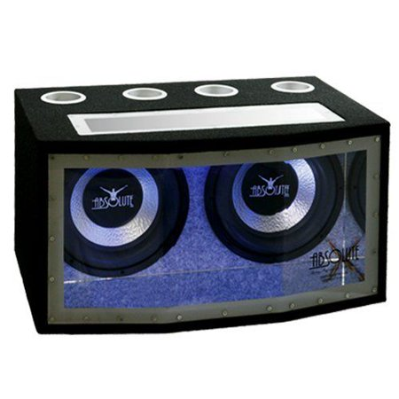 Absolute BPW212N Dual 12-inch Subwoofer Bandpass Enclosure with Blue Neon Lights 1200 Watts Maximum