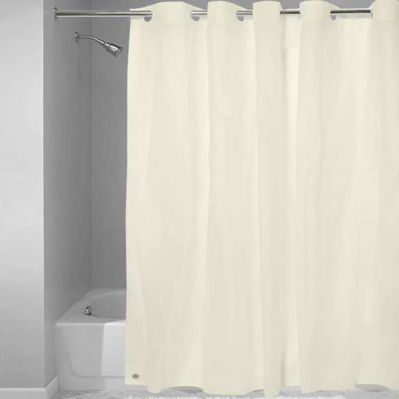 EZ On 100 Percent EVA Plastic 72 X Shower Curtain Liner With Built In Hooks