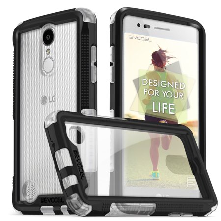 LG Aristo Case, Evocel® [Aperture Series] Slim Bumper Protector | Lightweight & Secure Fit [Clear Window][Porthole Covers] For LG Aristo (MS210) / LG LV3 (2017),