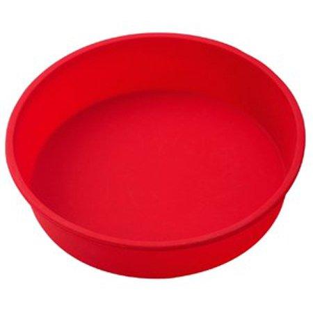 The Essentials Essentials Round Cake Pan - Silicone - Red - image 1 de 1