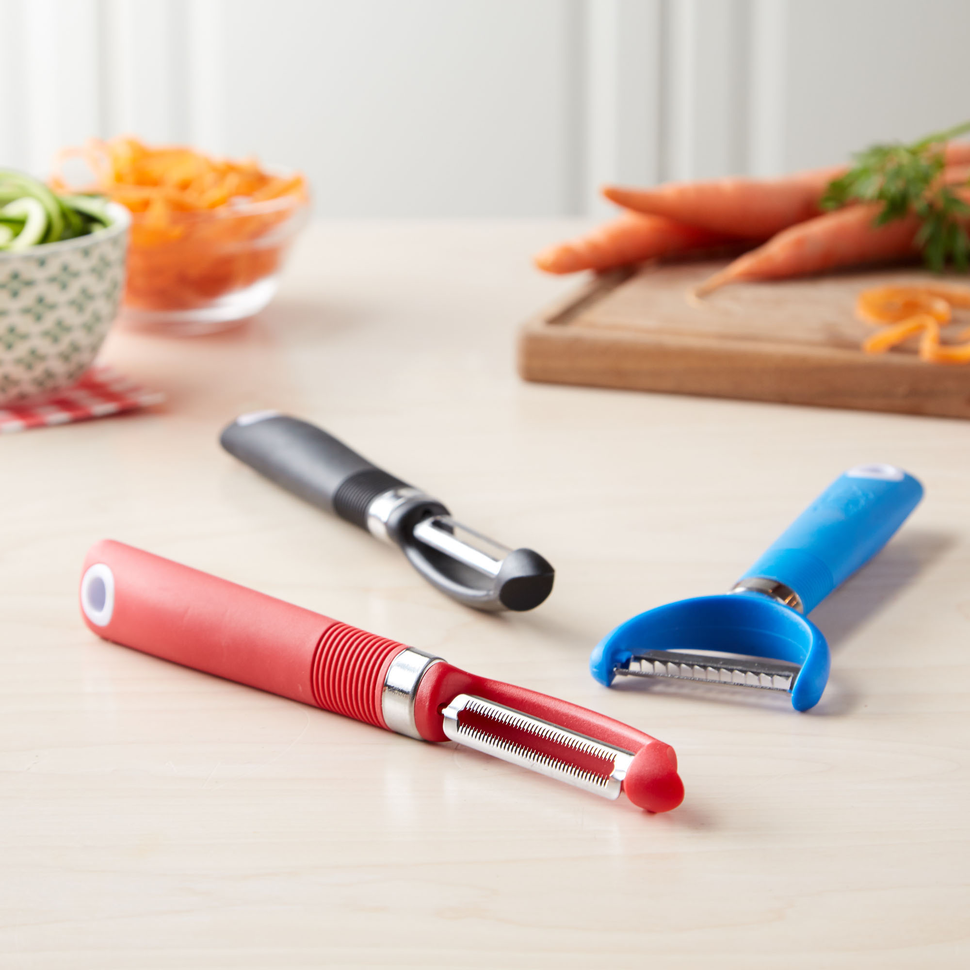 Tasty 3pc Peeler Set with Soft Grip Handles