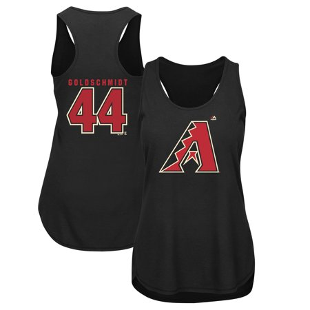 Paul Goldschmidt Arizona Diamondbacks Majestic Women's Plus Size Player Tank Top - Black Arizona Ladies Player Series