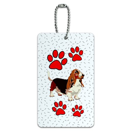 Graphics and More Basset Hound of Beauty ID Card Luggage Tag ()