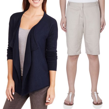 Juniors School Uniform Drape Cardigan & Bermuda Shorts