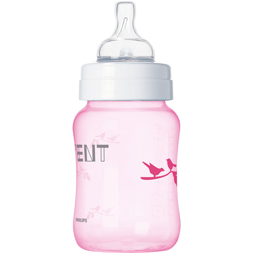 Philips AVENT SCF624 37 BPA Free Classic 9 Ounce Pink Deco Bird Bottles, 3-Pack by Philips AVENT