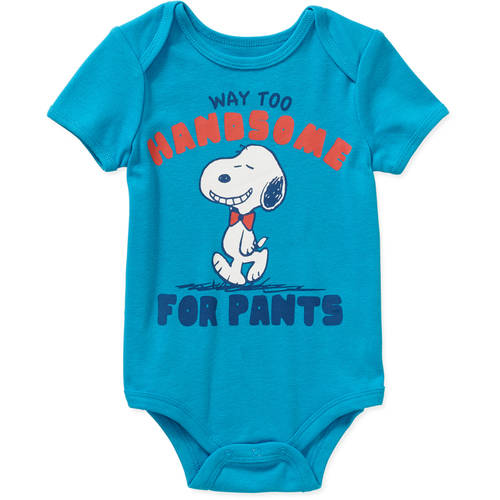 PEANUTS Snoopy Newborn Baby Boy License Body Suit