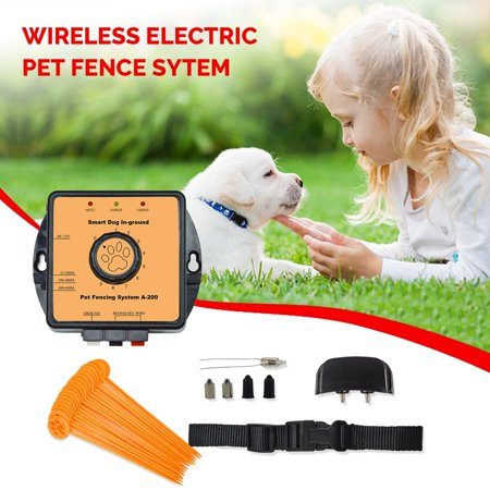 Wireless Pet Fence System (27000 sqft) Underground Dog Containment System with Water Resistant Electric Dog Collar and -