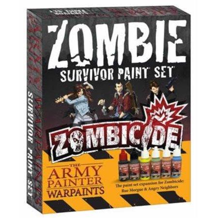 high-pigment zombicide paints for survivor miniatures - 6 dropper bottle zombicide paint set for beginners and advanced hobbyists - zombicide survivor paint set by the army painter ()