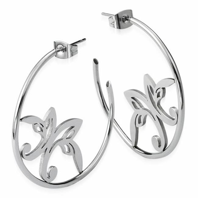 AAB Style ESS-113 Stainless Steel Hoop Earrings