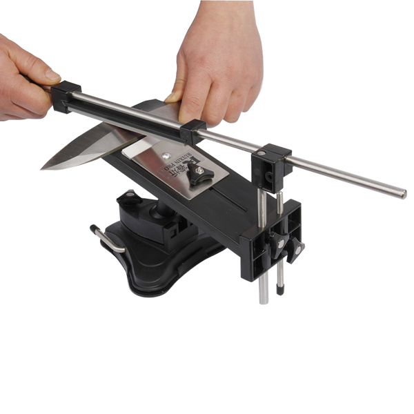 Click here to buy Professional Fix-angle Kitchen Knife Sharpener System Hand Sharpening with 4 Stones by AGPtek.