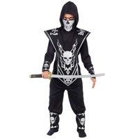 Red & Black Skull Ninja Child Halloween Costume