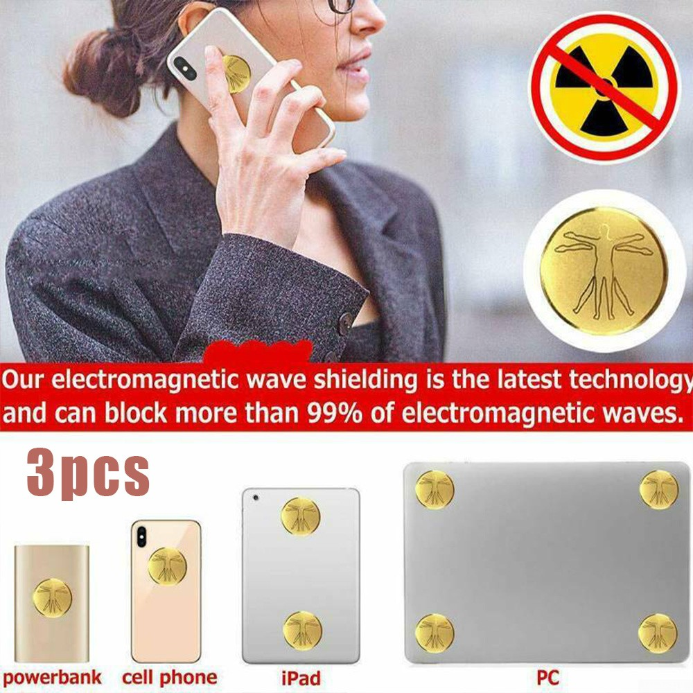 jianghui133 Anti Radiation Protector Shield EMF Protection Cell Phone Sticker Cell Phone EMR Blocker para Todos los tel/éfonos m/óviles Dispositivos electr/ónicos computadora computadora port/átil