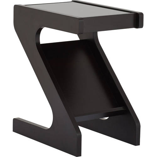 Furniture of America Haylin Magazine Rack End Table, Cappuccino by Furniture of America