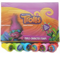Product Image 24 Trolls Dreamwork Authentic Licensed Self Inking Stampers In Box