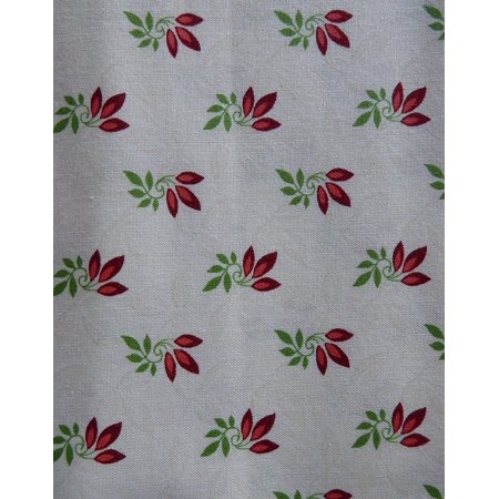 Clearance SaleSongbird ChristmasRed Leaves On WhiteCotton Fabric ByMaywood